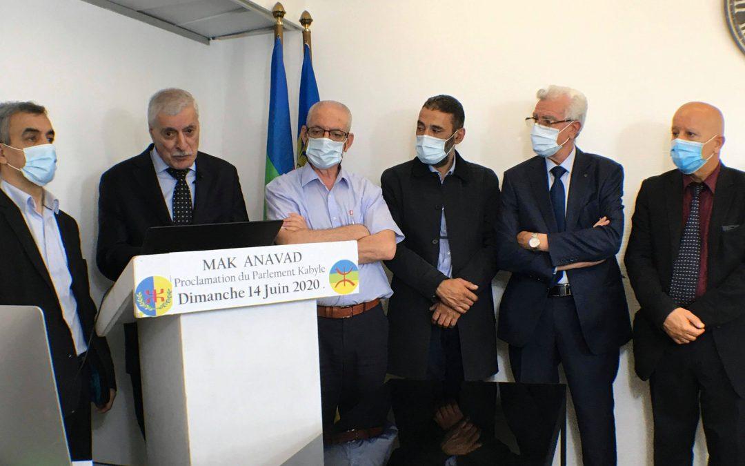 Décret portant création du Parlement kabyle (N° GZM/ASAN/20/ASF/1406/10)